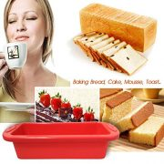 Cake-BakewareSilivo-25-Deep-Cake-Pan-Silicone-Cake-Moulds-Rectangle-Bread-Loaf-Mold-Baking-Moulds-Tray-Bakeware-Set-for-CakesBreadPiePancakesPizzaRed-0-0