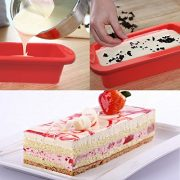Cake-BakewareSilivo-25-Deep-Cake-Pan-Silicone-Cake-Moulds-Rectangle-Bread-Loaf-Mold-Baking-Moulds-Tray-Bakeware-Set-for-CakesBreadPiePancakesPizzaRed-0-1