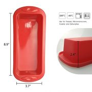 Cake-BakewareSilivo-25-Deep-Cake-Pan-Silicone-Cake-Moulds-Rectangle-Bread-Loaf-Mold-Baking-Moulds-Tray-Bakeware-Set-for-CakesBreadPiePancakesPizzaRed-0-2